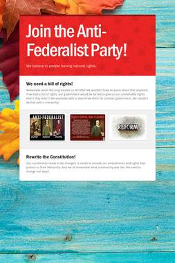 Join the Anti-Federalist Party!