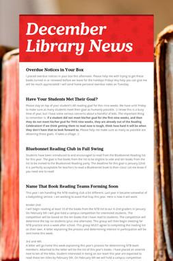 December Library News