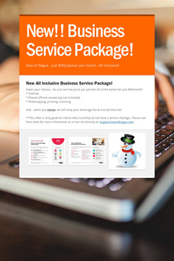 New!! Business Service Package!