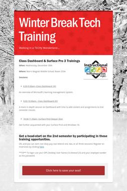Winter Break Tech Training