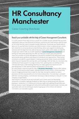 HR Consultancy Manchester