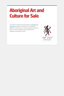 Aboriginal Art and Culture for Sale