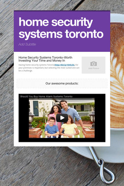 home security systems toronto