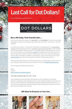 Last Call for Dot Dollars!