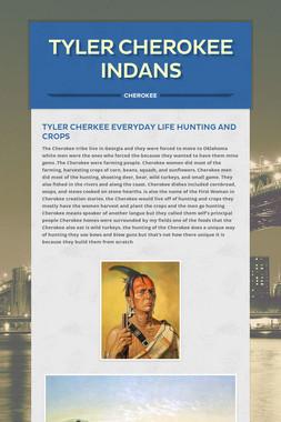 Tyler  Cherokee Indans