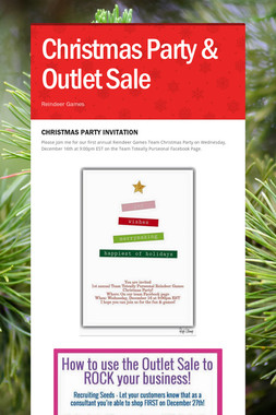 Christmas Party & Outlet Sale