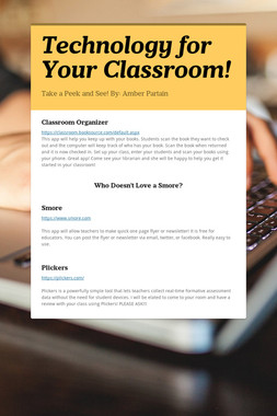 Technology for Your Classroom!