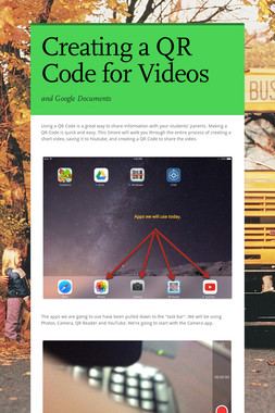 Creating a QR Code for Videos