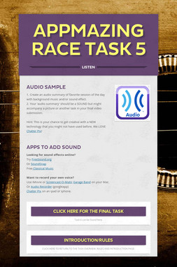 AppMazing Race Task 5