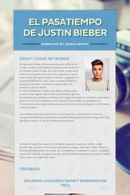 El Pasatiempo de Justin Bieber