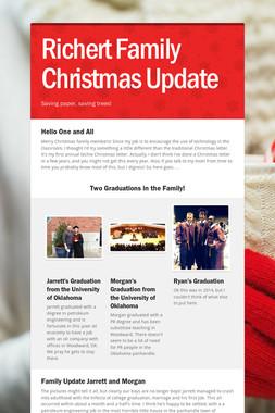 Richert Family Christmas Update