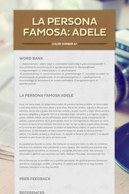 La Persona Famosa: Adele