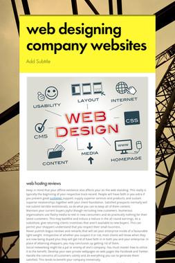 web designing company websites