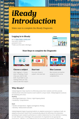 iReady Introduction
