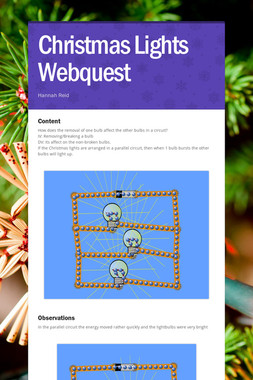 Christmas Lights Webquest