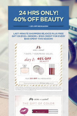 24 Hrs Only! 40% OFF Beauty