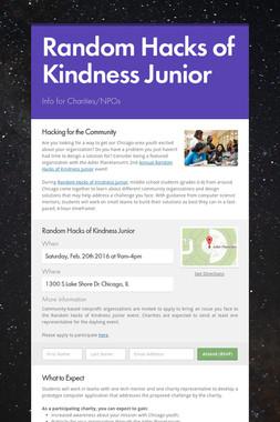 Random Hacks of Kindness Junior