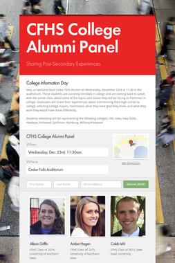 CFHS College Alumni Panel