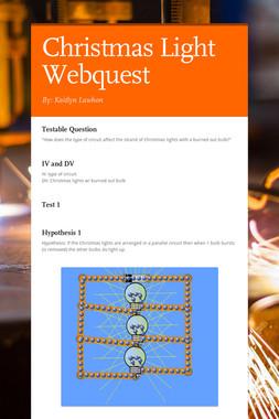 Christmas Light Webquest