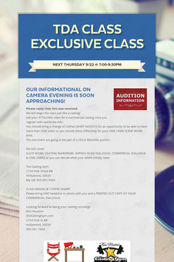 TDA CLASS EXCLUSIVE CLASS