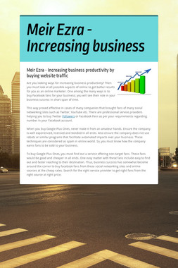 Meir Ezra - Increasing business