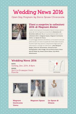 Wedding News 2016