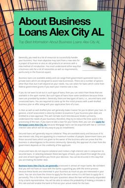 About Business Loans Alex City AL