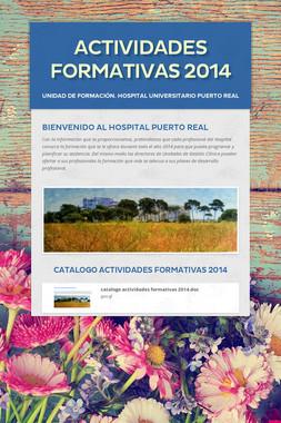 ACTIVIDADES FORMATIVAS 2014