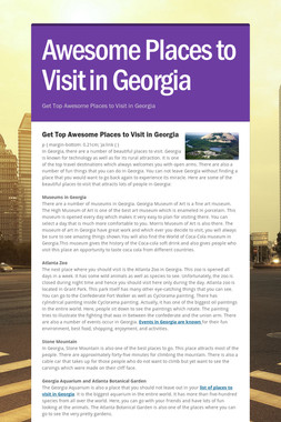 Awesome Places to Visit in Georgia