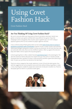 Using Covet Fashion Hack