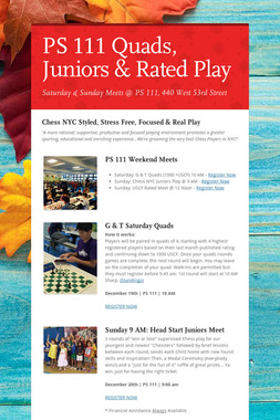PS 111 Quads, Juniors & Rated Play