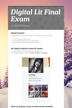Digital Lit Final Exam