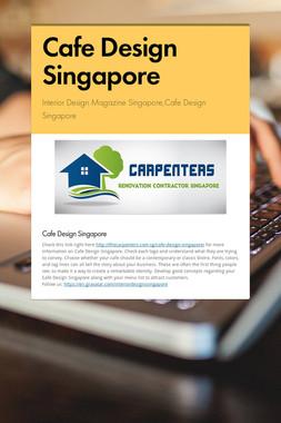 Cafe Design Singapore