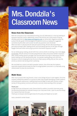 Mrs. Dondzila's Classroom News