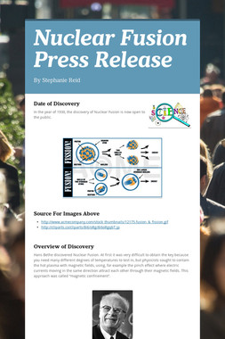 Nuclear Fusion Press Release