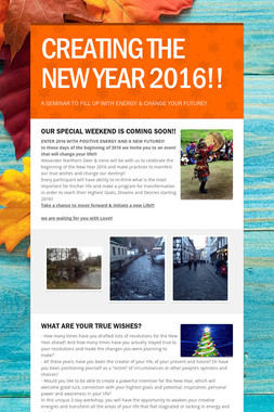 CREATING THE NEW YEAR 2016!!