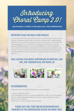 Introducing Choral Camp 2.0!
