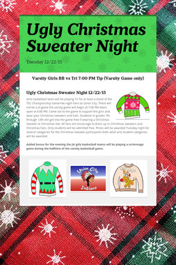 Ugly Christmas Sweater Night