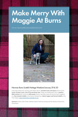 Make Merry With Maggie At Burns