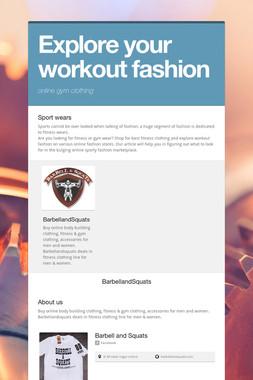 Explore your workout fashion