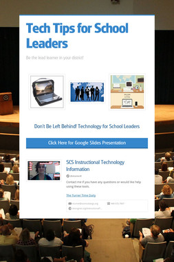 Tech Tips for School Leaders