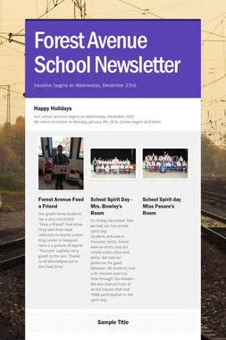Forest Avenue School Newsletter