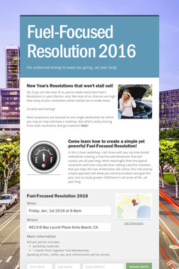 Fuel-Focused Resolution 2016