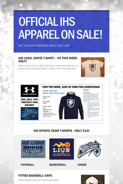 OFFICIAL IHS APPAREL ON SALE!