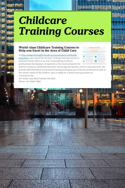 Childcare Training Courses