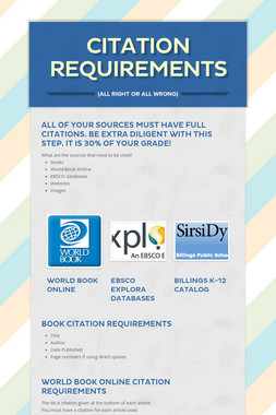Citation Requirements