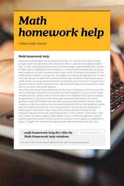 Math homework help
