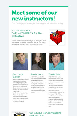 Meet some of our new instructors!