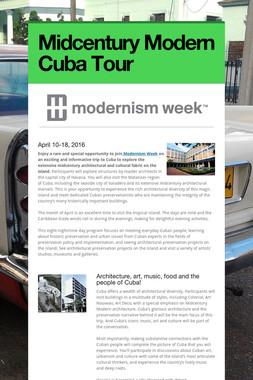 Midcentury Modern Cuba Tour