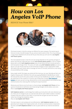 How can Los Angeles VoIP Phone